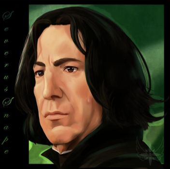 Realism attempt 1_Snape by Angel-soma