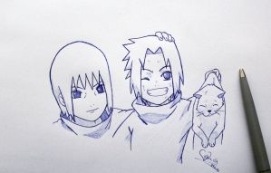 Sasuke and Itachi sketch by ViivaVanity