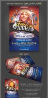Fancy Night Party Flyer Template by hugoo13