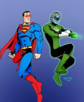 Superman and Green Lantern by herrenmedia