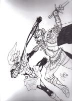 oni-link vs. ganon by sonsofshadow303