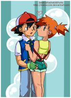 ash and misty C: by Meowzzie