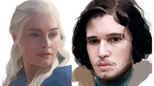 Dany and Jon Snow WIP by iMMuhUnic0rn