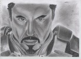 Ironman Tony Stark by tiaPhillips
