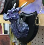 Taxidermy dragon head purple by The-GoblinQueen