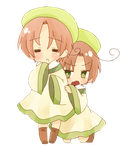 Chibiitalia and Chibi Romano Render { Cleaned up } by VanishedLullabys