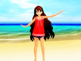 MMD Summer Girl!!! by MidnightMiku