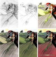 poison ivy print process by Andrew-Robinson