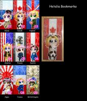 Hetalia bookmarks by roseannepage