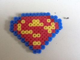 superman logo perler bead by Pokekid6