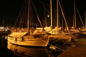 Docks at Night by AndySimmons