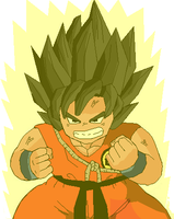Chibi Goku false ssj by RobertoVile