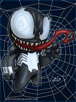 cute venom sticker by ZipDraw