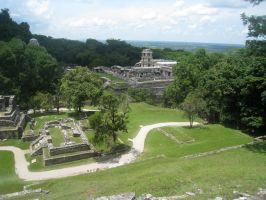 Palenque aerial view by sindos