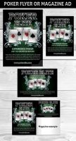 POKER MAGAZINE AD OR FLYER 2 Template by Hotpindesigns