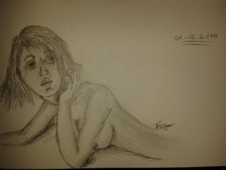 Woman sketch by Akid4