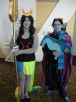 Otakon 2012 Feferi and Eridan by JoeZep5