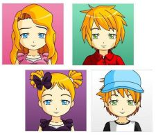 The Shortman Family ~Anime~ by starwriterforthewinn