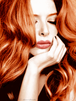 Rachelle Lefevre colorize by AliceCullen88