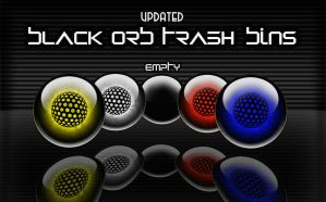 Black Orb Trash Bins - updated by victor1410