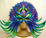 Aztec Goddess - leather art mask by RiverGypsyArts