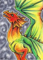 ACEO Trade: Skies on Fire by Agaave