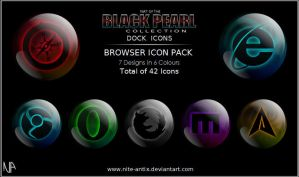 Black Pearl Browser Icons by NiTE-ANTiX