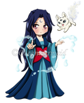 LOTG. Chibi Mahigan Inugami and Ookami by Oceanmermaid