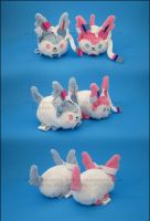 Stacking Plush: Mini Sylveon and Shiny Sylveon by Serenity-Sama