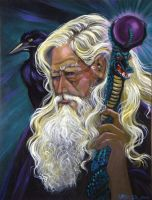 Wizard and Crow by HouseofChabrier