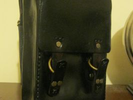 Leather Backpack by passbyguy