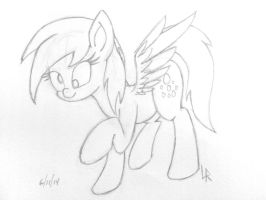 MuffinMare_Sketch by DubstepBrony4Life