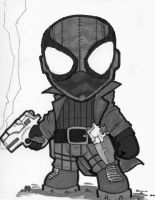 Chibi Noir Spiderman by supaman2525
