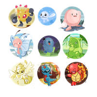 Pokemon Fusion Set by SteveKdA