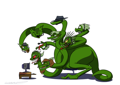 Hydra on the computer by Torcher999