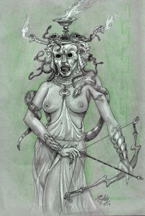 MEDUSA, Queen of serpents.