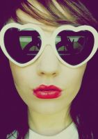 Me heart red lipstick by lusiak
