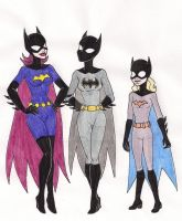 Three Batgirls by 13foxywolf666