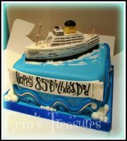 50's Cruise Liner Cake by gertygetsgangster