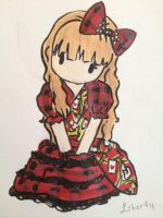 Dolldelight Queen of Hearts dress Chibi by VictoriqueShizuka