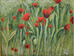 Poppy field - painting by Efirende