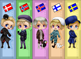 APH - Nordics Bookmarks by Momiji95