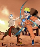 Aang vs Naruto by Tony-Antwonio