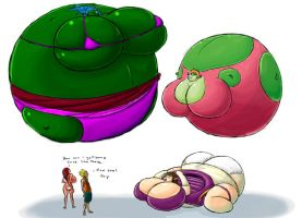 inflatables toys 2 colored by shydude