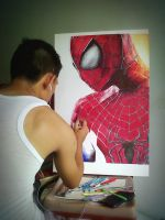 The Amazing Spiderman 2 Ballpointpen Drawing by ATCdrawings