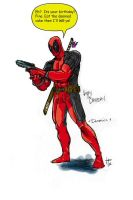 Hamza's Deadpool Colored by DrewEiden