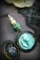 All Sweetness and Skulls Vulva Locket by VulvaLoveLovely