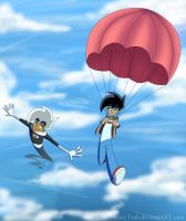 Parachutes and Airplanes by FoxyTeah