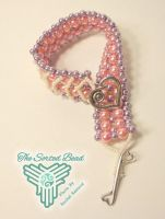 Pink and Purple Double Raw with Chevron by TheSortedBead