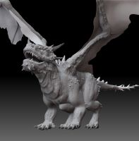 ZBrush Dragon Model by Caine-Design